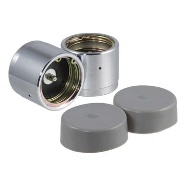 """CURT Bearing Protectors, Set of 2 with dust covers, 2.44"""" hub dia."""
