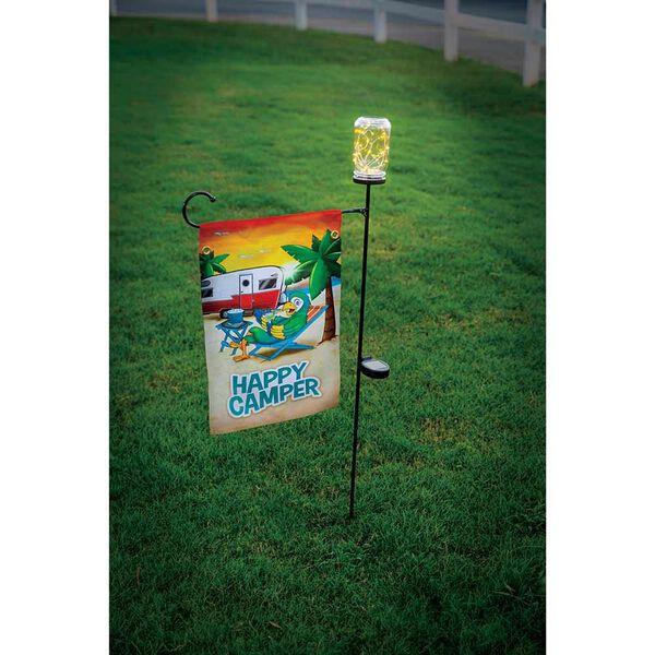 Mason Jar Solar Flagpole