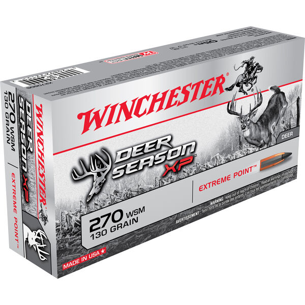 Winchester Deer Season XP Rifle Ammo, .270 WSM, 130-gr., Extreme Point