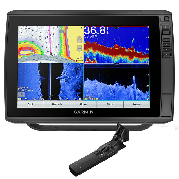 Garmin ECHOMAP Ultra 126sv Preloaded US Offshore BlueChart; g3 - LakeVü g3 w/GT56UHD-TM