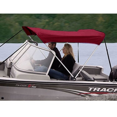 """Shademate Polyester 2-Bow Bimini Top, 5'6""""L x 42""""H, 54""""-60"""" Wide"""