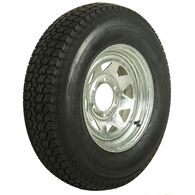 Tredit H188 225/75 x 15 Bias Trailer Tire, 6-Lug Spoke Galvanized Rim
