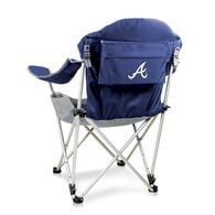 Atlanta Braves Reclining Camp Chair, Navy