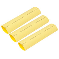 "Ancor Adhesive-Lined Heat Shrink Tubing, 2 - 4/0 AWG, 6"" L, 3-Pk., Yellow"