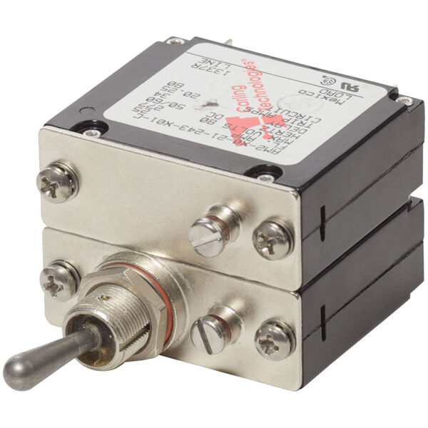 Blue Sea Systems COTS Military-Grade A-Series Toggle Circuit Breaker, 2 Pole 25A