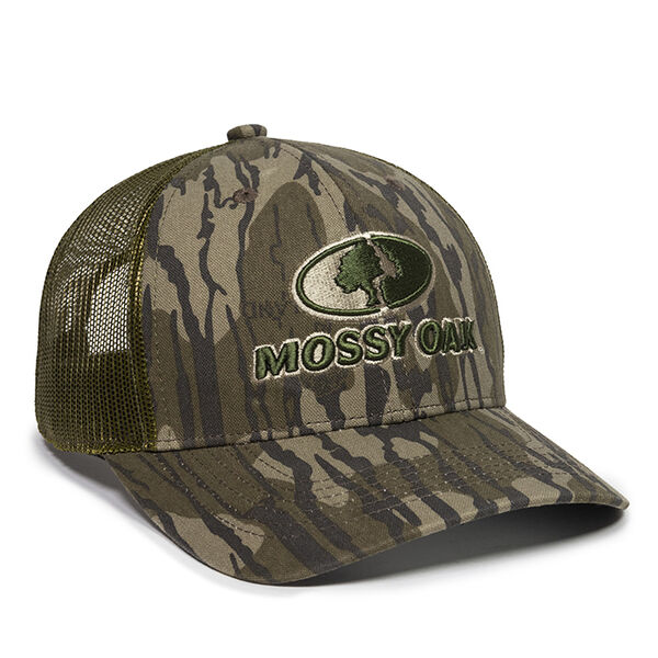 Mossy Oak Embroidered Logo Camo Mesh-Back Cap