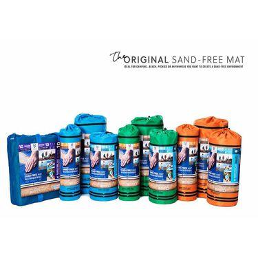 """Sand Free Rug, Blue Plaid, 3'4"""" x 6'6"""""""