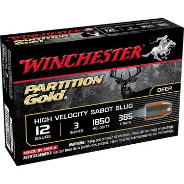 "Winchester Partition Gold Sabot Slugs, 12-ga., 3"", 385-gr."