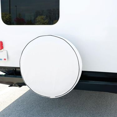 "Elements White Spare Tire Cover, White, 31.25"""