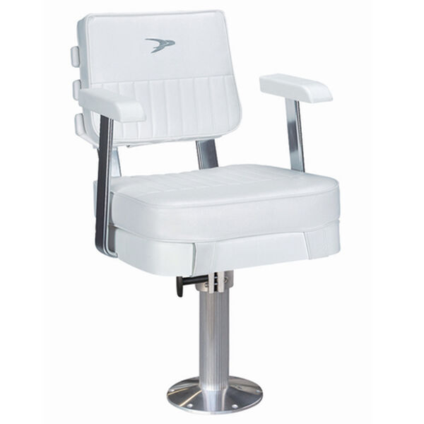 "Wise Ladder Back Helm Chair w/15"" Fixed Pedestal and Seat Swivel"