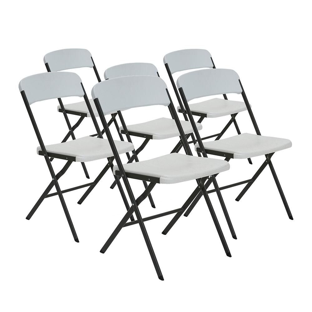 Astonishing White Granite Contemporary Essential Folding Chair 6 Pack Interior Design Ideas Apansoteloinfo