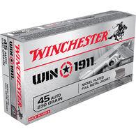 Winchester Win 1911 Handgun Ammo, .45 ACP, 230-gr., FMJ