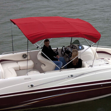 """Shademate Polyester 4-Bow Bimini Top, 8'L x 54""""H, 73""""-78"""" Wide"""