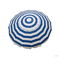 8 ft Royal Blue and White Stripe Deluxe Beach/Patio Umbrella