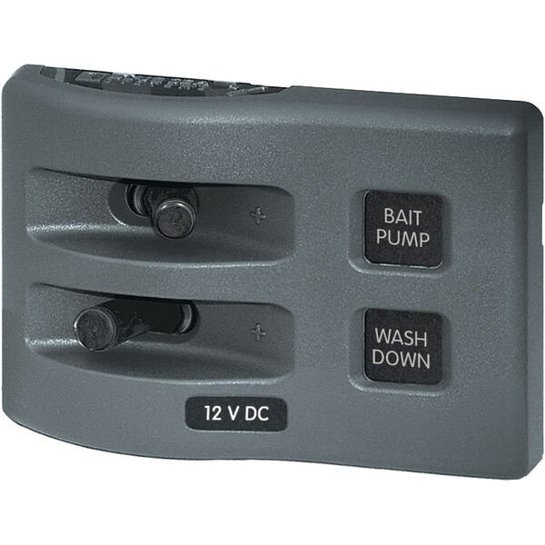 Blue Sea Systems WeatherDeck 12V DC Waterproof Switch Only Panel, 2 Positions