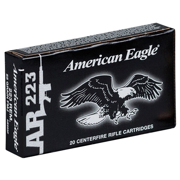 American Eagle AR-223 Rifle Ammunition, 55-gr., FMJBT
