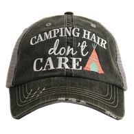 'Camping Hair Don't Care' Katydid Women's Trucker Hat
