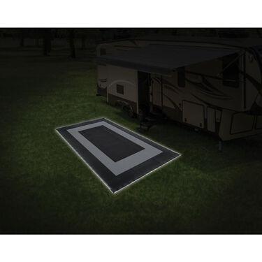LED Illuminated Patio Mat, 9' x 12', Black
