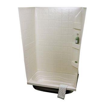 """24"""" x 32"""" Bath Tub Surround, Parchment"""