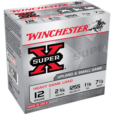 "Winchester Super-X Heavy Game & Field Loads, 12-ga., 2-3/4"", 1-1/8 oz., #7"