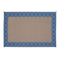 Reversible Trellis Design Patio Mat, Denim Blue/Mocha, 6' x 9'