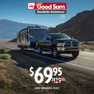 1 Year Good Sam Roadside Assistance $69.95