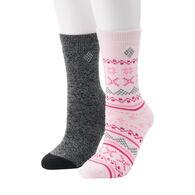 Columbia Women's Fairisle Thermal Crew Socks, 2-Pack
