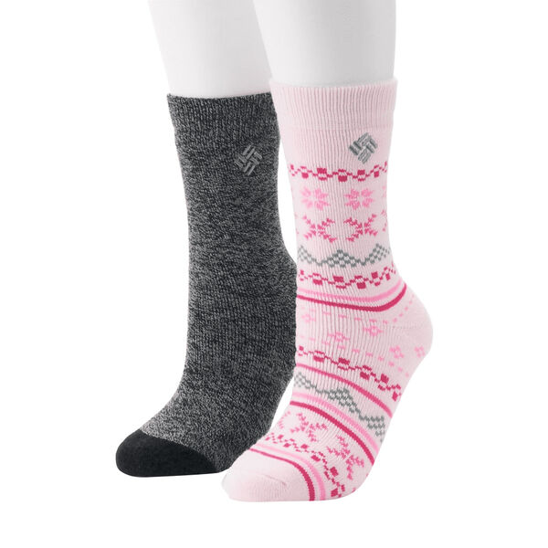 Columbia Women's Fairisle Thermal Crew Socks, 2-Pack