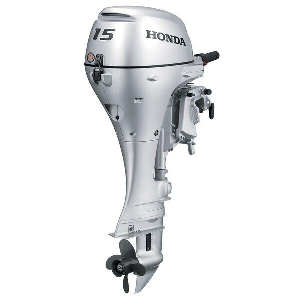 "Honda BF15 Portable Outboard Motor, Electric Start, 15 HP, 20"" Shaft, Power Tilt"