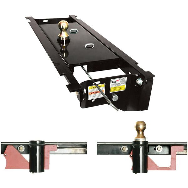 PopUp Style Underbed Gooseneck Hitch, Fits 2006-2008 Dodge Ram Boxed Frame 1/2 Ton and 2006-2012 Dodge Mega Cab 3/4 and 1 Ton