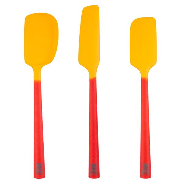 Robert Irvine 3-Piece Silicone Utensil Set, Orange