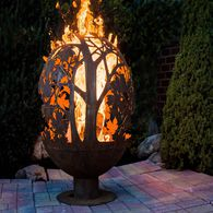 Blowing Leaf Fire Sphere, Extra Large