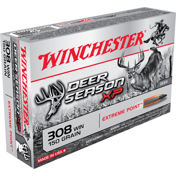 Winchester Deer Season XP Rifle Ammo, .308 Win, 150-gr., Extreme Point