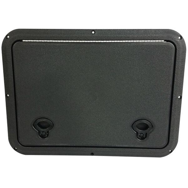 "DPI Marine DPF Black Flush Series Hatch Door, 12-7/8"" x 17-1/2"" O.D. frame"