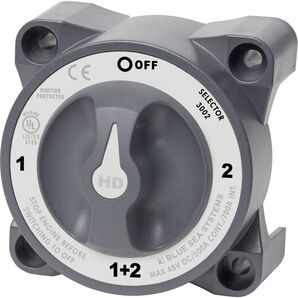 Blue Sea HD-Series 3002 Battery Switch, Selector 4-Position