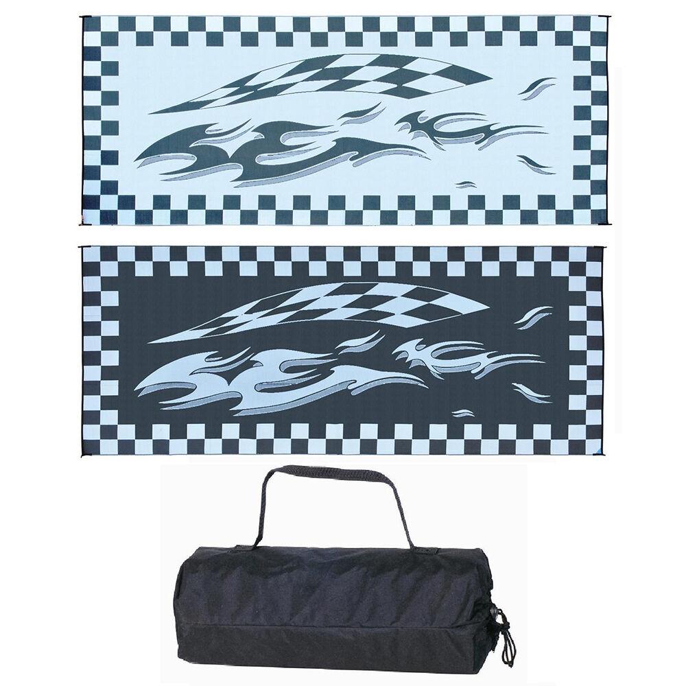 Reversible Checkered Flag Design Patio Mat, 8' x 20 ...