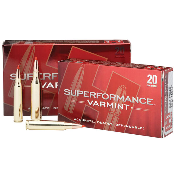Hornady Superformance Varmint V-Max Ammo, .243 Win., 58 Gr.