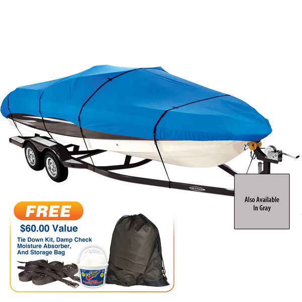 """Covermate Imperial Pro Euro-Style V-Hull Outboard Boat Cover, 18'5"""" max. length"""