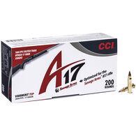 CCI A17 Rimfire Ammo, .17 HMR, 17-gr., VT
