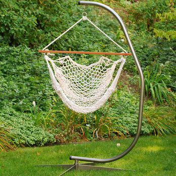 Hanging Cotton Rope Chair, White