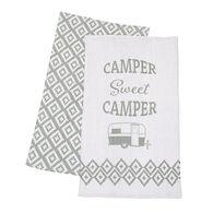 Sweet Camper Dish Towel Set, 2-Pack, Gray