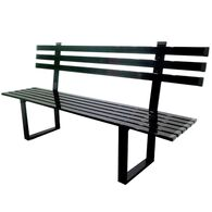 Silver Powder Coated Aluminum Bench, 6'