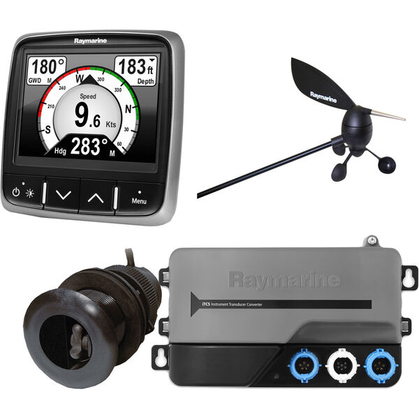 Raymarine i70 System Pack With Wind, Depth, Speed