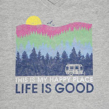 Life Is Good Women's Happy Place Tee, Medium