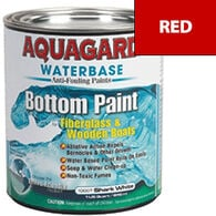 Aquaguard Waterbase Anti-Fouling Bottom Paint, Quart, Red