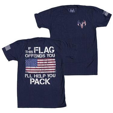 Buck Wear Men's Edgy Americana Pack It Short-Sleeve Tee