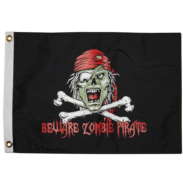 """Beware Pirate Zombie, 12"""" x 18"""""""