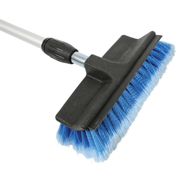 Telescoping Handle with Wash Brush & Squeegee