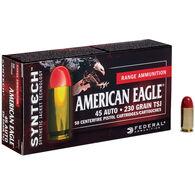 American Eagle Syntech Handgun Ammunition, .45 ACP, 230-gr., TSJ