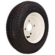 "Kenda Loadstar 8"" 480-8 K371 Bias Trailer Tire With White Wheel Assembly"